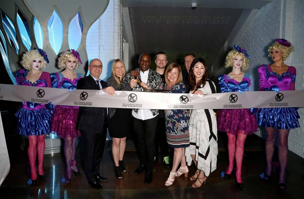 Ribbon cutting ceremony during The Hunger Games: The Exhibition grand opening at MGM Grand Hotel & Casino